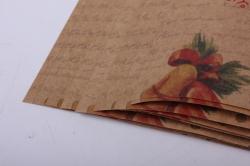 Бумага подарочная КРАФТ С Новым Годом  0,7*1м в лист. (10 лист.)