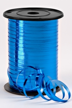 Подарочная Декоративная Лента металлизированная - 0.5х250y Синяя М0593
