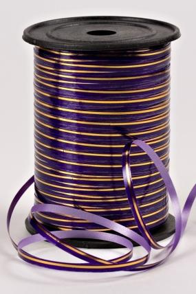 Подарочная Декоративная Лента с золотой полосой - 0.5х250у Фиолетовая А0539