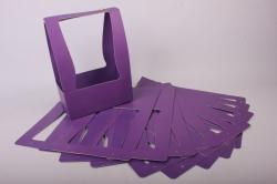 Сумка-корзинка прямоуг. для цветов  фиолетовая (10шт в уп.)