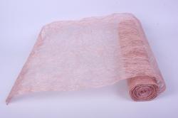 абака натуральная 48см х 9м, светло-розовый