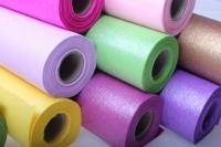 бумага водостойкая аксессуары для флористов - бумага водостойкая для цветов 60х10м - золотистый 2342