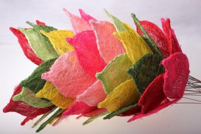 """каркас для букетов аксессуары для флористов - каркас """"сизалевый цветок"""" - розовый 1275"""