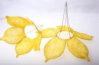 "каркас для букетов аксессуары для флористов - каркас ""сизалевый цветок"" - жёлтый 1275"