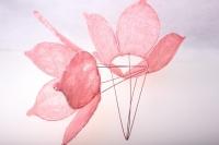 """каркас для букетов аксессуары для флористов - каркас """"сизалевый цветок"""" - светло-розовый 1275"""