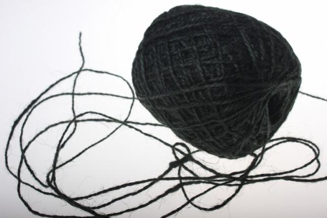 Аксессуары для флористов - Лента текстильная - Шнур натуральный джутовый в ассортименте 100гр - Черный