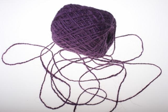 Аксессуары для флористов - Лента текстильная - Шнур натуральный джутовый в ассортименте 100гр - Фиолетовый