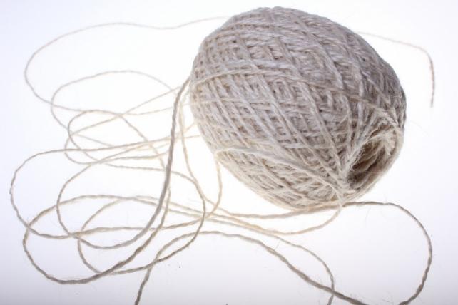 Аксессуары для флористов - Лента текстильная - Шнур натуральный джутовый в ассортименте 100гр - Натуральный