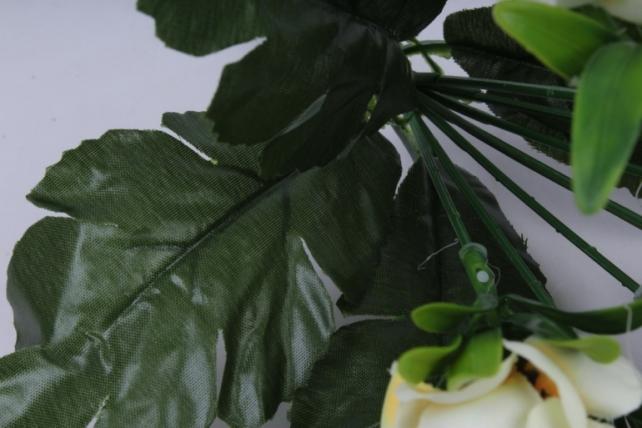 анемоны букет белые 35см