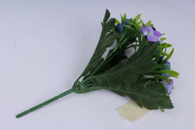 анемоны букет синие 35см
