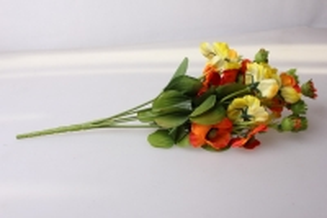 анемоны желто/оранжевые букет - цветы искусственные
