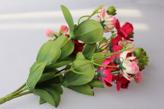 анемоны розово/малиновые букет - растения искусственные