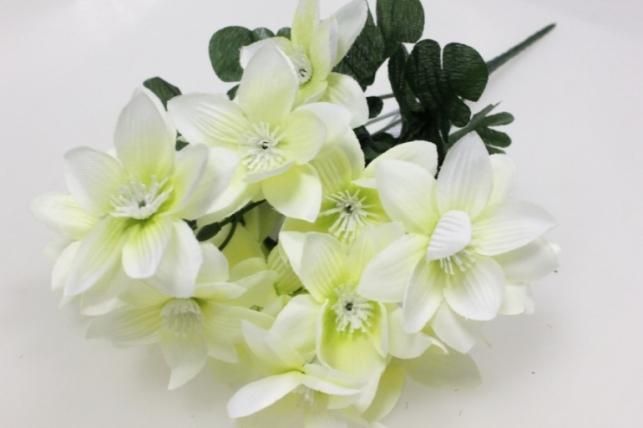 анемоны ванильные/белые, букетик 35см