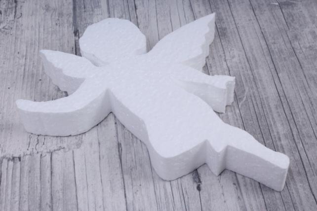 ангел пенопласт с крыльями 14x16 h=2cm (1 шт в упаковке), ан-03