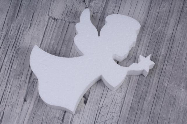 Ангел пенопласт со звездой 11x15 h=2cm (1 шт в упаковке), Ан-01