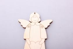 Ангел Тильда 6х10см, фанера 4мм 101058