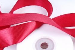 Атласная лента, в катушке (картон) гладкая, односторонняя, 25мм х 25м, Бордовый (М), К
