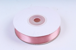 Атласная лента, в катушке (картон) гладкая, односторонняя, 15мм х 25м, Чайная Роза М, К