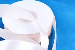 Атласная лента, в катушке (картон) гладкая, односторонняя, 25мм х 25м, Нежно-Розовый (М), К