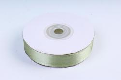 Атласная лента, в катушке (картон) гладкая, односторонняя, 15мм х 25м, Оливковый М, К