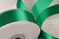 Атласная лента, в катушке (картон) гладкая, односторонняя, 25мм х 25м, Темно-зеленый 4261  М