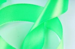 Атласная лента, в катушке (картон) гладкая, односторонняя, 25мм х 25м, Зеленый М, К