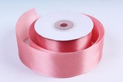 Атласная лента, в катушке (картон) гладкая, односторонняя, 38mm x 25m, Чайная Роза М, К