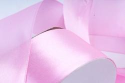 Атласная лента, в катушке (картон) гладкая, односторонняя, 38mm x 25m, Лаванда М, К