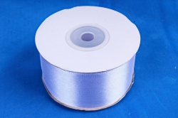 Атласная лента, в катушке (картон) гладкая, односторонняя, 38mm x 25m, Сиреневый М, К