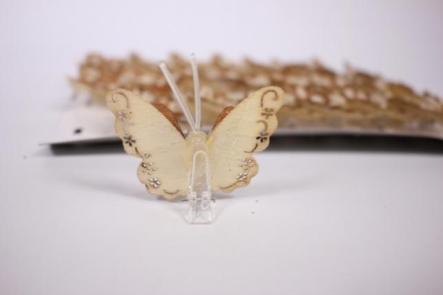 бабочкидекоративные 5смдеревянныенаприщепке(24штвуп)
