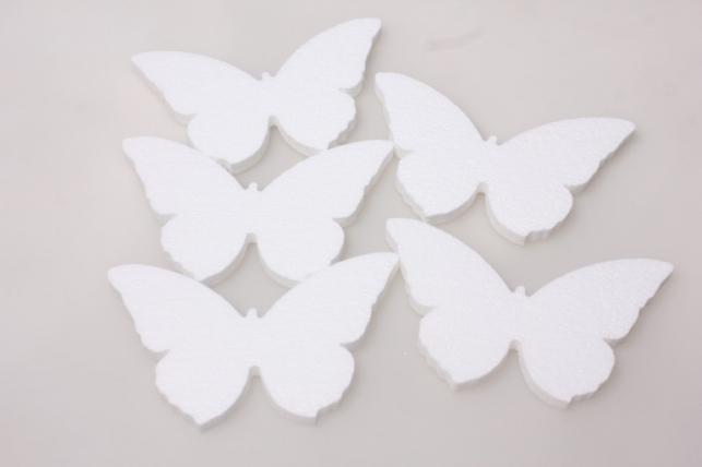 Бабочки из пенопласта вид 3 15х6х1см (5шт в уп) 03-Ба