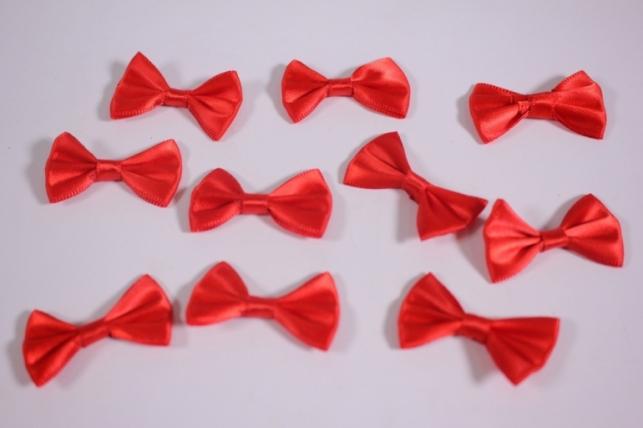 бант атласный 4х2,5см красный (10шт в уп)