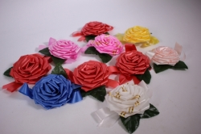 бант (роза) №3  (10шт в уп) микс