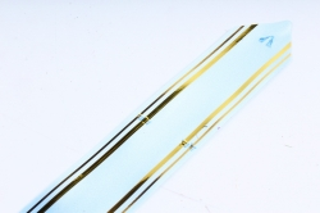Бант-Бабочка 32*570мм золот. полоса Голубой (10 шт.)