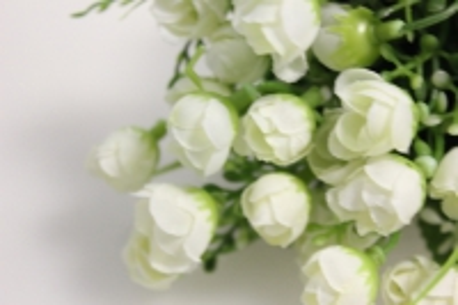 белые букеты - искусственные растения 7351