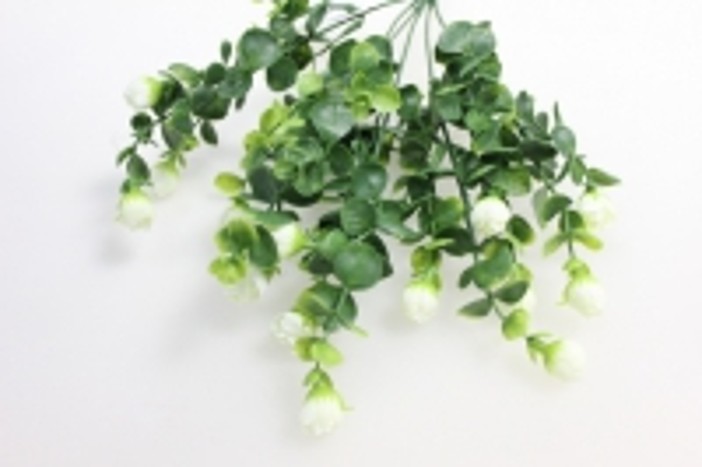 белые бутоны - искусственные растения 6545