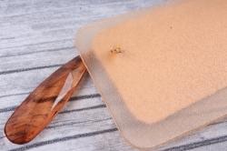 бирка из натуральной кожи  «поздравляем» подвеска цветная
