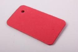 бирка из натуральной кожи «поздравляю», подложка из декоративной пенки с блестками