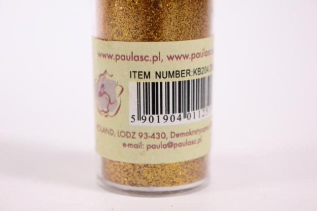блестки цветные  20гр. в тубе  яркое золото   (pl)  кв204
