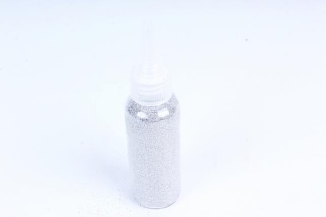Блестки цветные  50гр. в тубе  Серебро (Ч)