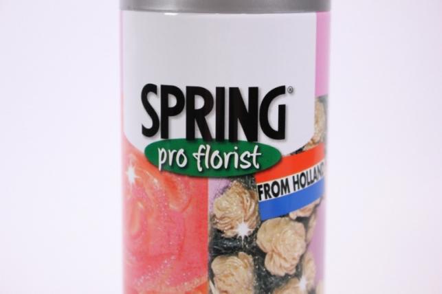 блестки-спрей - серебро (300 мл) spring