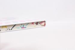 Блокнот с резинкой Единорог на белом. 25.5х14см.