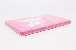 Блокнот с резинкой Единорог розовый. 25.5х14см.