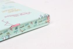Блокнот с резинкой Кактус и Фламинго. 25.5х14см.