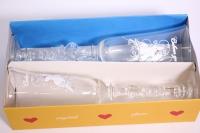 бокалы свадебные белые прозрачные с голубями h=24см (2шт в уп)