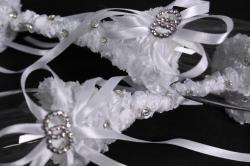 """бокалы свадебные  """"два кольца"""" белые  (2шт в уп) 16107"""