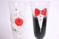 """бокалы свадебные """"жених+невеста"""" h=24см (2шт в уп)"""
