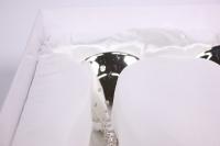 """бокалы свадебные """"люкс"""" серебро с кристаллами на длин. ножке h=27см (2шт в уп)"""