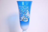 """бокалы свадебные сине/белые """"с лебедями"""" h=24см (2шт в уп)"""