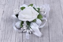 браслет для подружек невесты- белый 28140